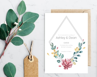 calendar save the date invitation instant download etsy