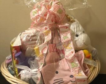 ea98cfa6993e Welcome Baby basket   Baby Shower Gift basket (Medium)