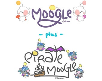 PATTERN PACK // Moogle + Pirate Moogle