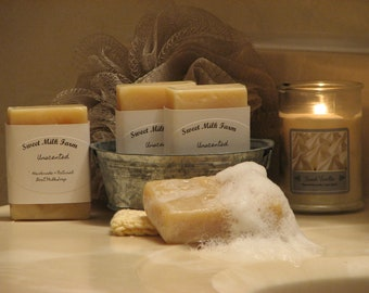 Handmade Natural Goat Milk Soap - various scents and unscented