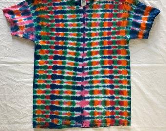 Size L accordion style tie dye t-shirt