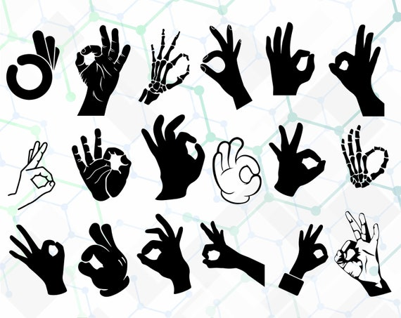 ok hand sign svgdxfpng ok hand sign clipart etsy