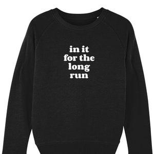 Running Sweatshirt Eat a lot Sleep a Lot Run a lot Sweater Running Sweater Marathon Gift for runner Running Clothing Slogan sweater.