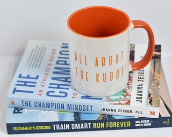 Strava Running Cycling Mug All About the Kudos Gift for runners Gift for cyclists Marathon Cycling Running Mug Runner Mug Gift for him