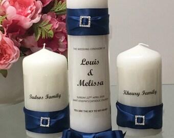 Personalised Unity Candle Set