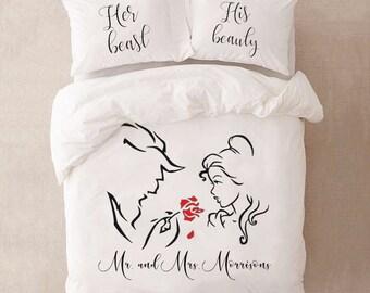 couples bedding etsy