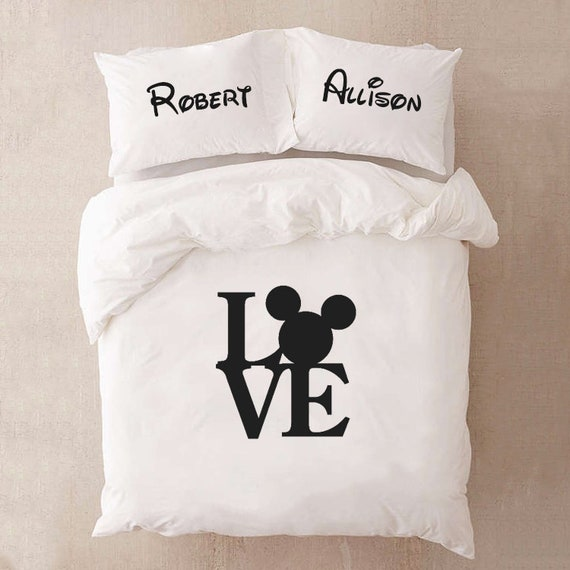 Wedding Bedding Set For Couple Gift For Couple Disney Bedding Etsy