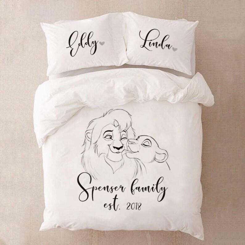 Der König Der Löwen Bettwäsche Set Für Paare Bettwäsche Disney Etsy