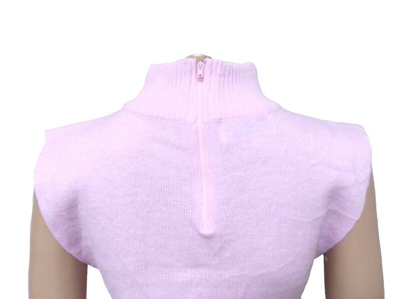 d801e797da Pink mock neck crop top   knit cropped top boxy top sleeveless