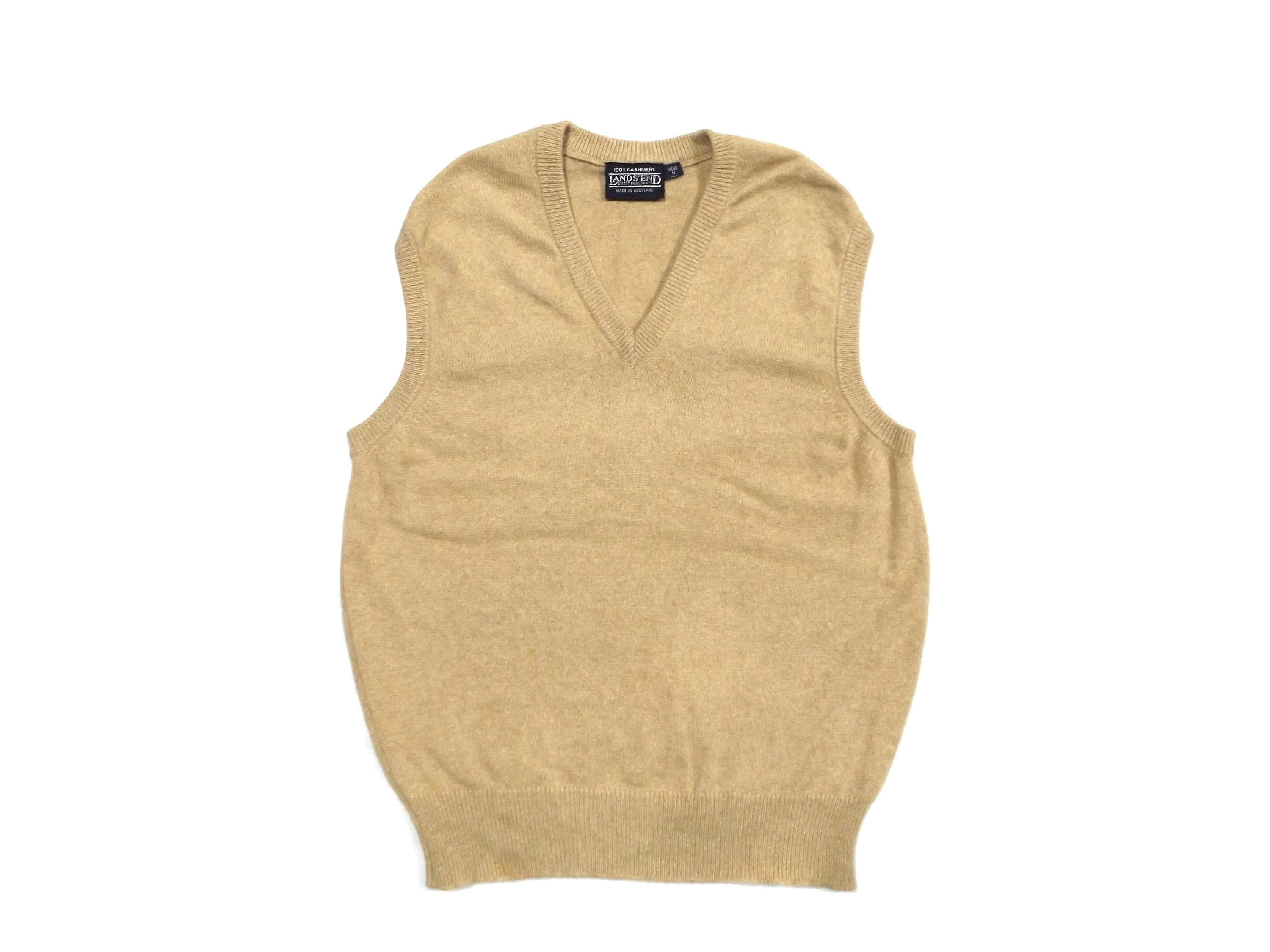 0e4d742a228 Boyfriend s tan cashmere sweater vest   made in