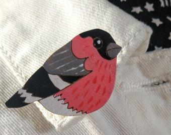 Bullfinch Lapel Pin Badge