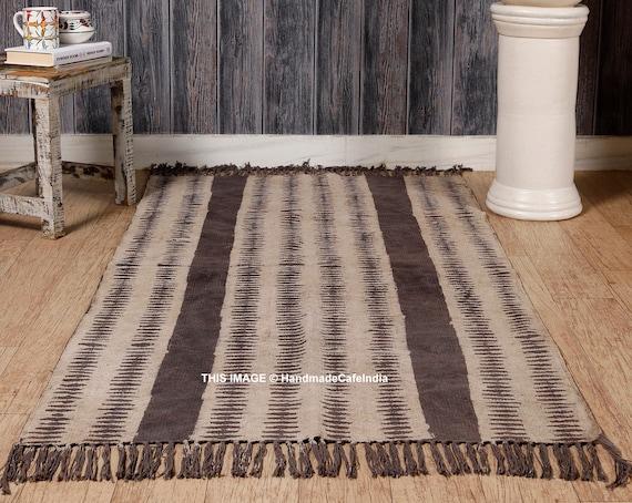 block print rug solid rug cotton Large 6x9 feet rug Woven rug indian rug carpet Kilim rug floor rug handmade rug runner area rug