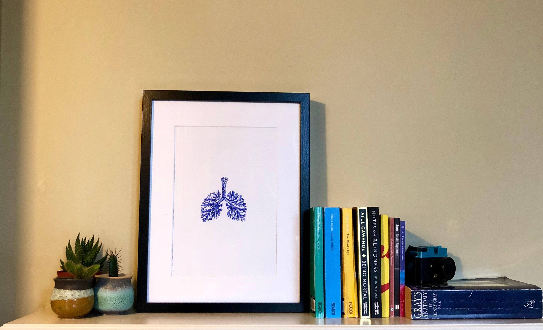 Menschliche Lunge Zeichnung Lunge Anatomie Kunst | Etsy