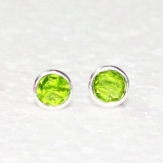 Christmas Gift Handmade Dangle Earrings GREEN PERIDOT Gemstone Studded In Solid 925 Sterling Silver Earrings August Birthstone