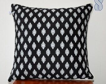Printed Raw Silk Cushion Cover