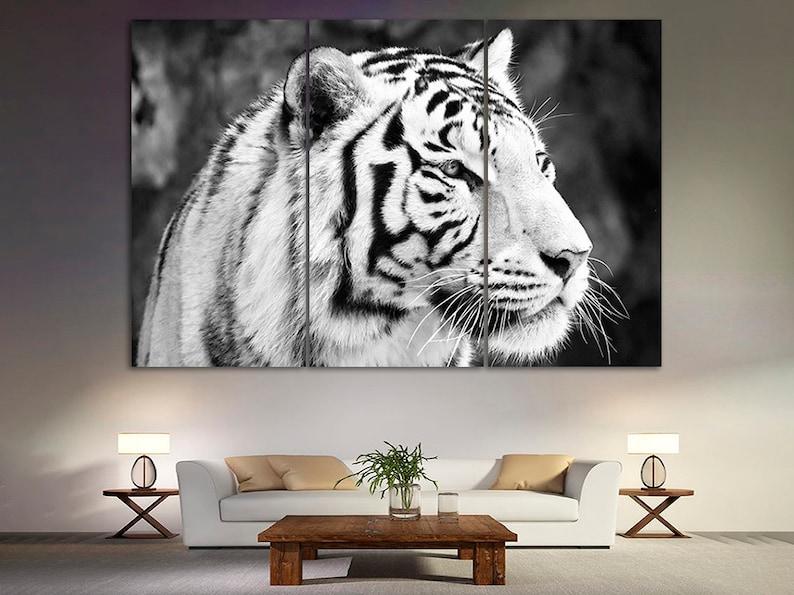Tiger canvas Tiger wall decor Tiger photo Tiger wall art Tiger print Tiger canvas art Tiger poster Tiger art Animals wall art Gift canvas
