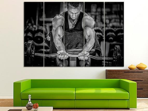 Gym wall art Gym decor Gym wall decor  Gym art home Gym decor Gym print gym Motivation fitness Motivation workout Large canvas