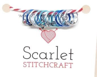 KnitPro ANELLO PORTACHIAVI Stitch Marker-confezione da 30-DUE COLORI-Maglieria Uncinetto