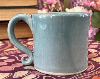Small Blue Porcelain Mug
