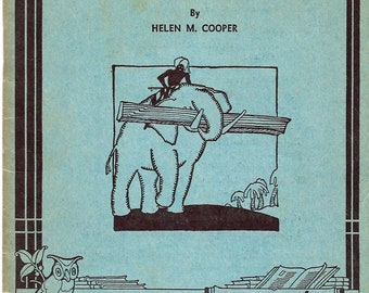 MAN'S ANIMAL HELPERS, Unit Study Book No. 206, Helen M. Cooper, 1934, learning, education