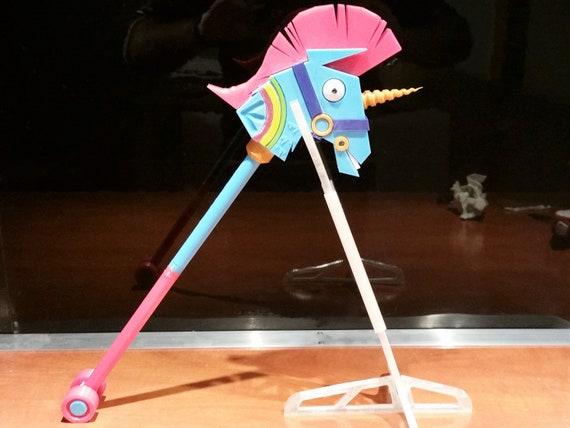 Fortnite Xl Pickpickaxe Rainbow Unicorn Smash Etsy