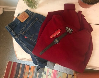 cherry red lambswool sweater