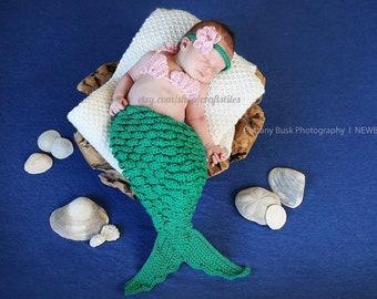 Baby Girl Mermaid Photo Prop