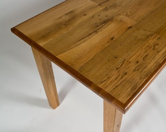American Oak Dining Table, Reclaimed Antique Oak