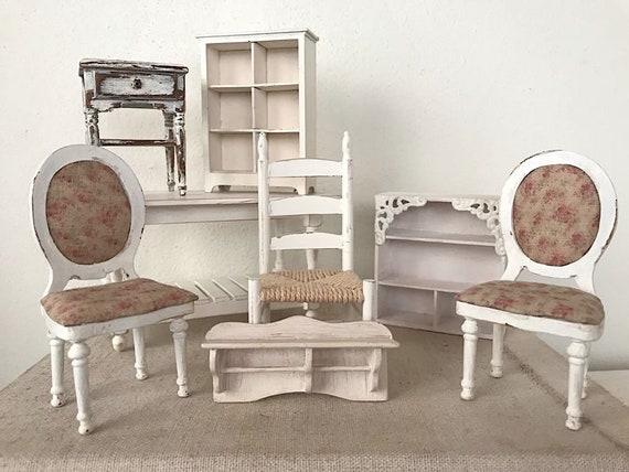 Miniatuur Design Meubels : Poppenhuis miniatuur houten meubels in schaal set nr etsy