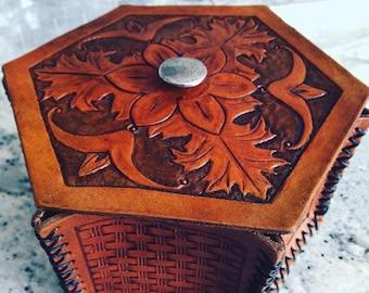 Leather Tooled Box