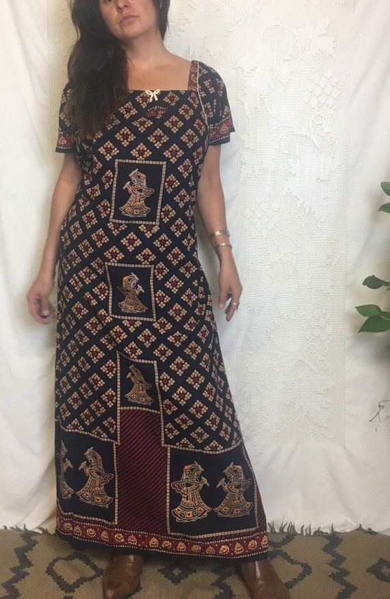 Beautiful cotton block printed indian ethnic batik
