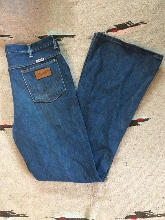 Vintage 1970's bell bottom Wrangler jeans
