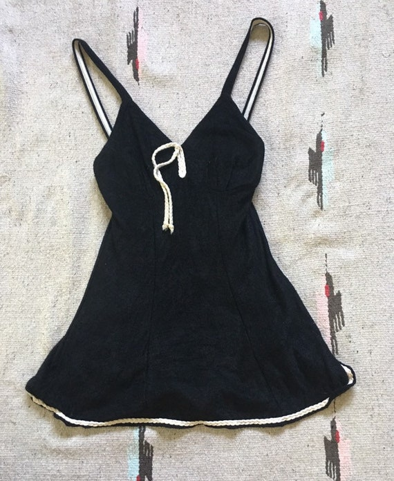 Adorable 1930's Beach Mate knit one piece swimsuit