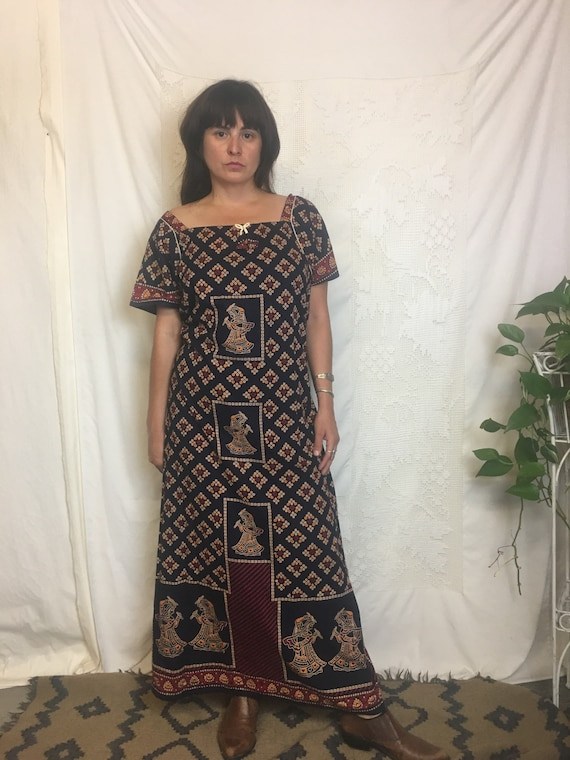 Beautiful cotton block printed indian ethnic batik