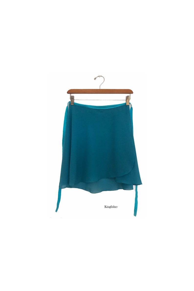 ESSENTIAL: Solid colour ballet wrap skirt made-to-order image 1