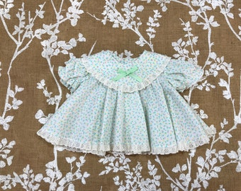 0-3m Vintage Floral Baby Girls' Dress 3m 6m VTG
