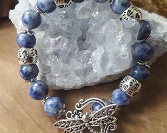 Sodaliet Armband, Sodalite bracelet, gemstone, uniek