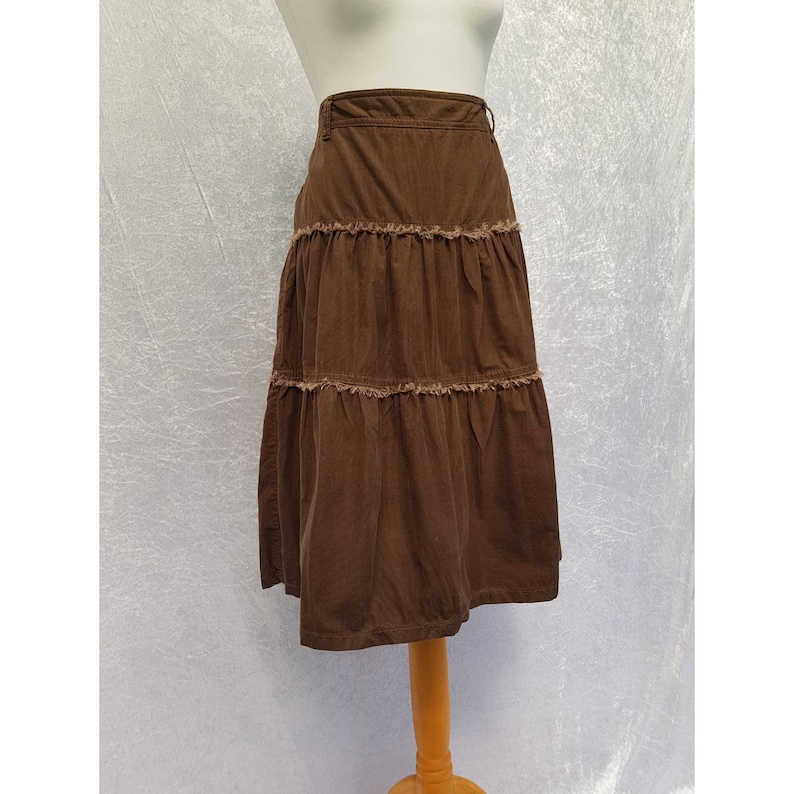 Vintage 90s Esprit Chocolate Brown High Waisted Fine Cord image 0