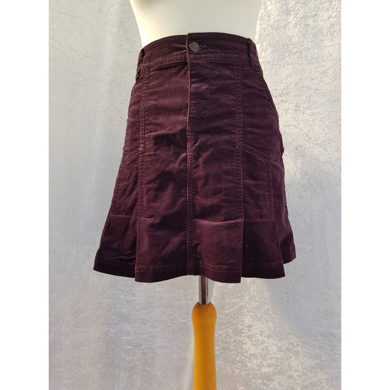Vintage Yessica at C&A Short Mini High Waisted Deep Plum image 0