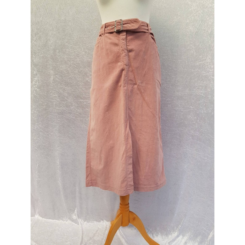 Vintage 90s Kenny S Petra Corp 85 High Waisted Belted Peach image 0