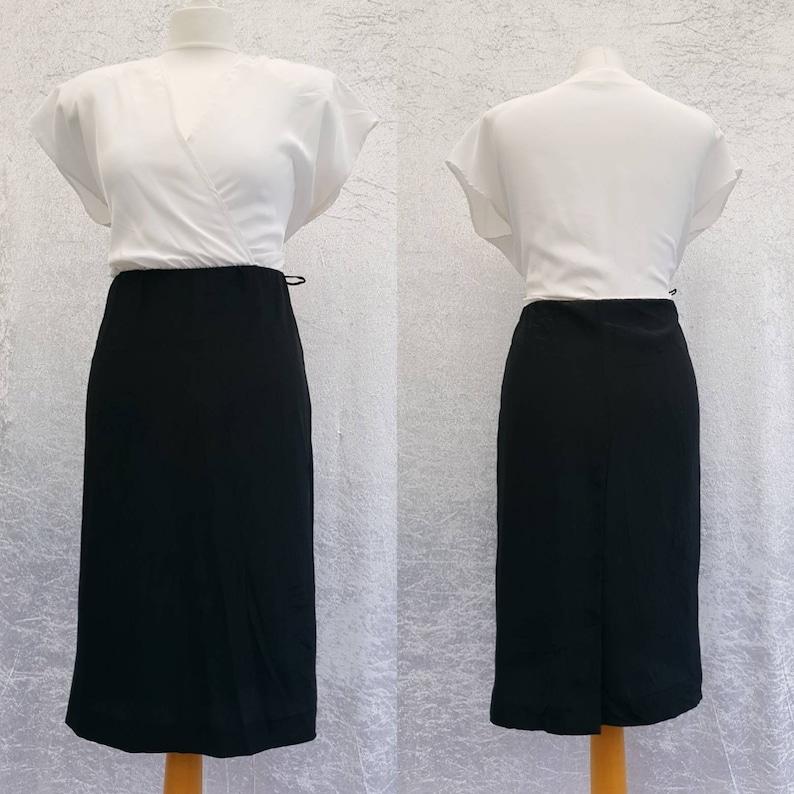 Vintage 80s Fashion Spirit Petites White and Black Polyester image 0
