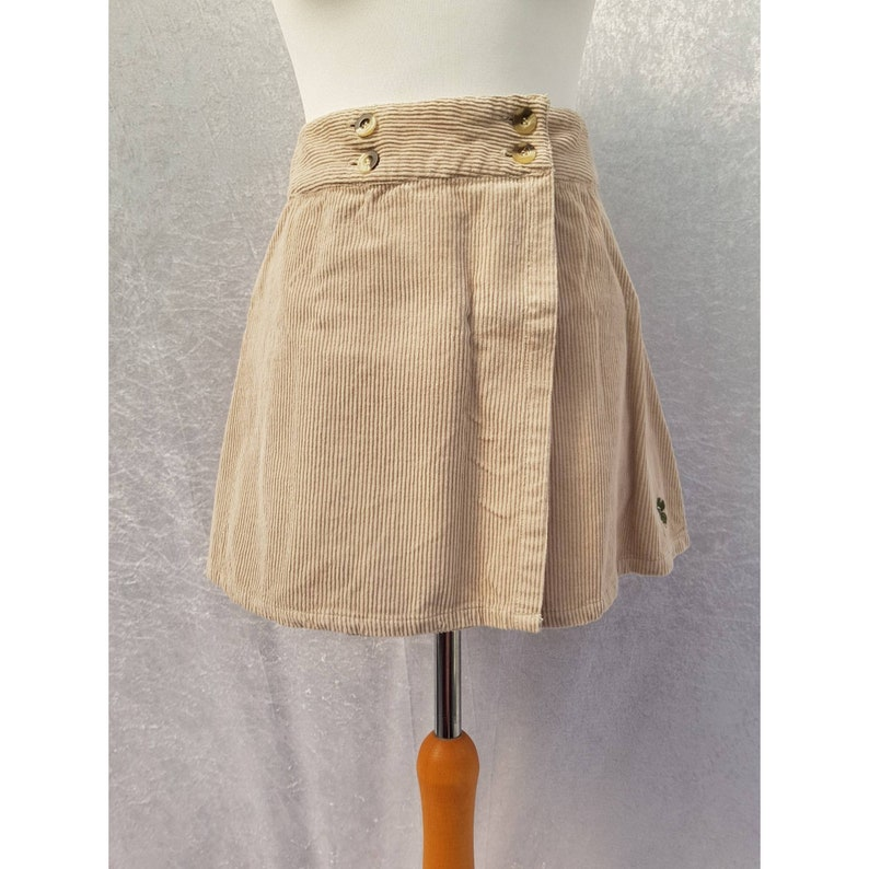 Vintage 90s Zembla Babes Beige Sand Fawn High Waisted Corduroy image 0
