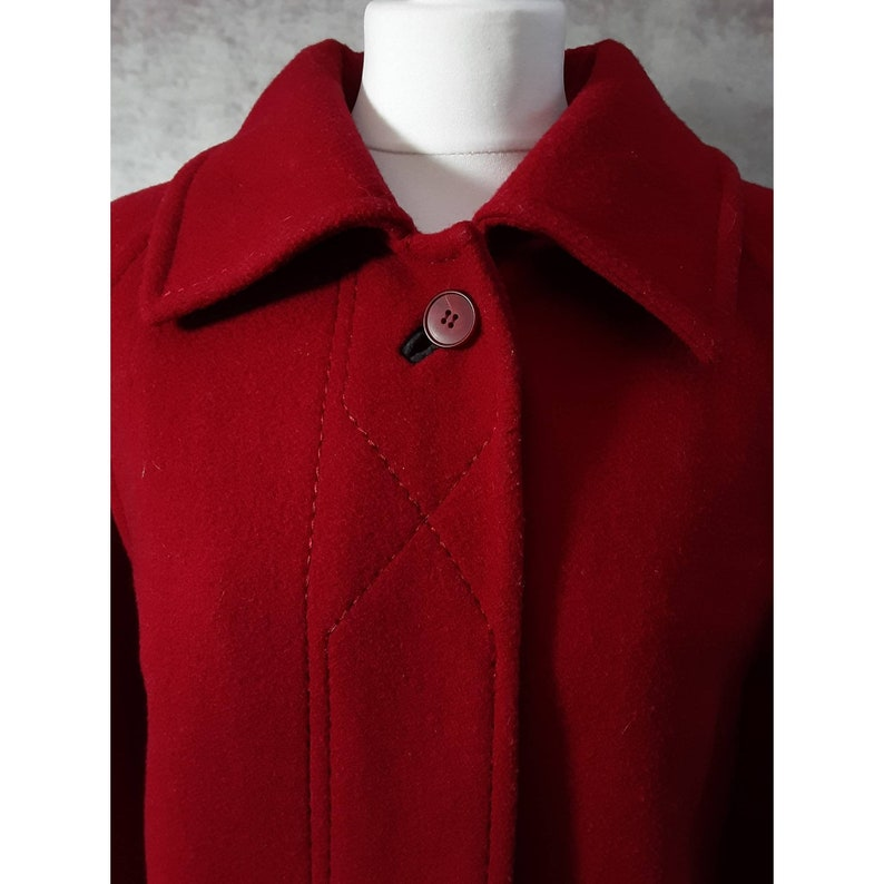 Vintage Miss Smith Original Ruby Red Pure New Wool Hidden image 0