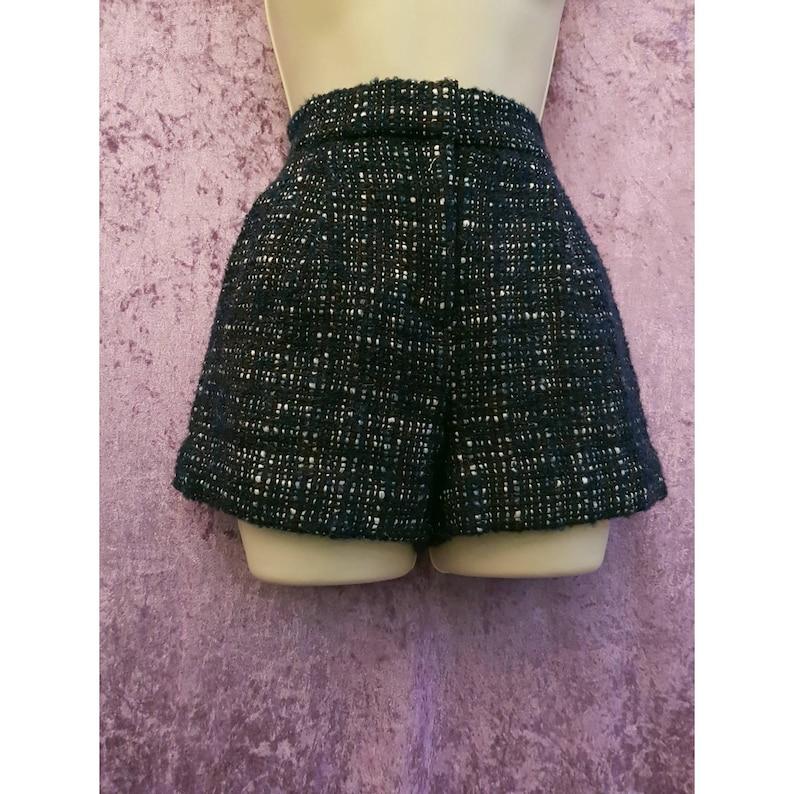 Vintage Gap High Waist Tweed Wool Blend Check Pattern Blue image 0