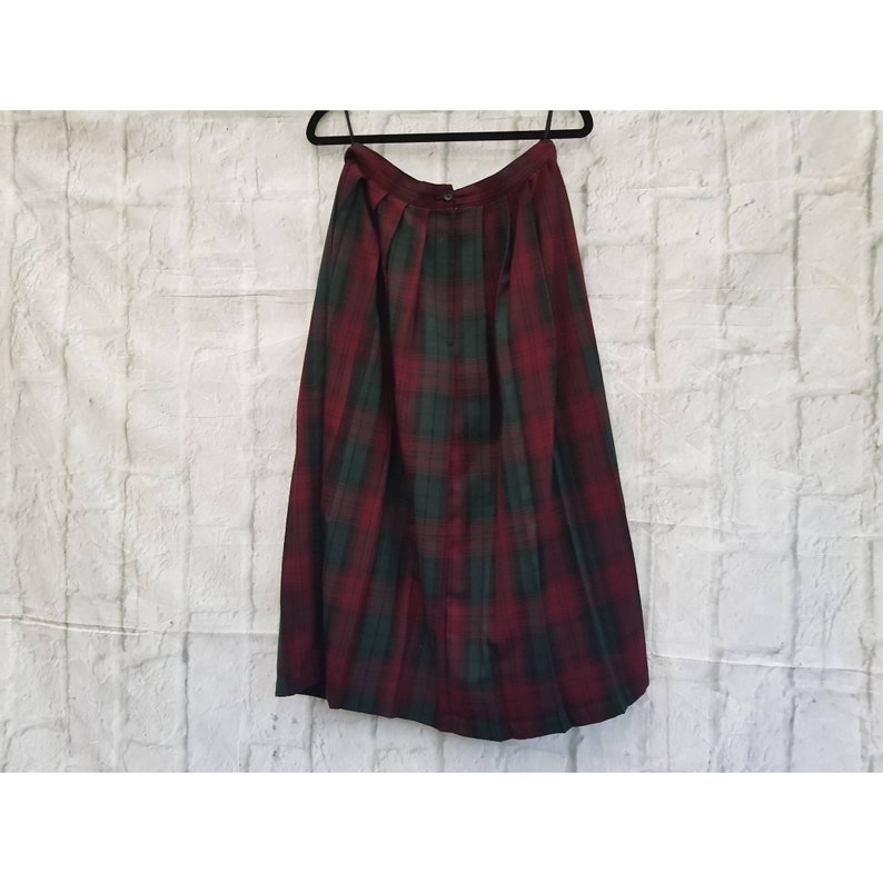 Vintage Dorothy Perkins Red and Green Tartan Check Pattern image 0