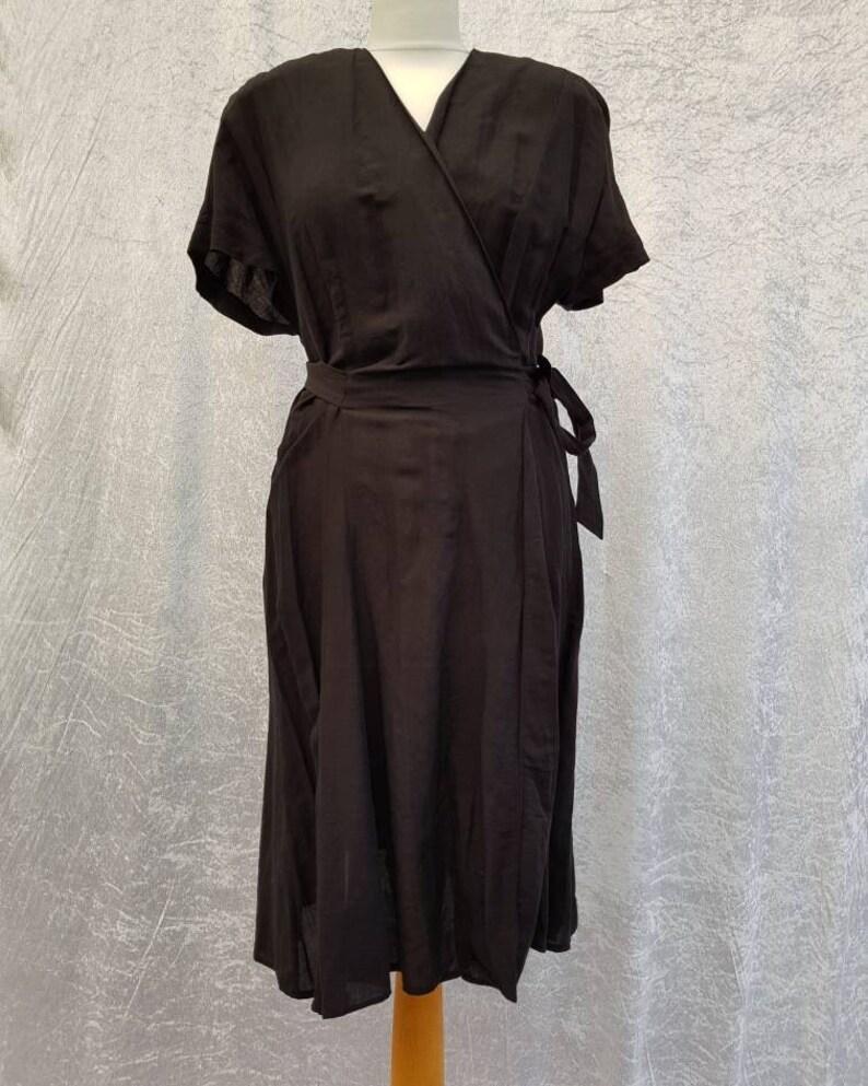 Vintage Gerry Weber 90s Elegant Little Black Dress Wrapover image 0
