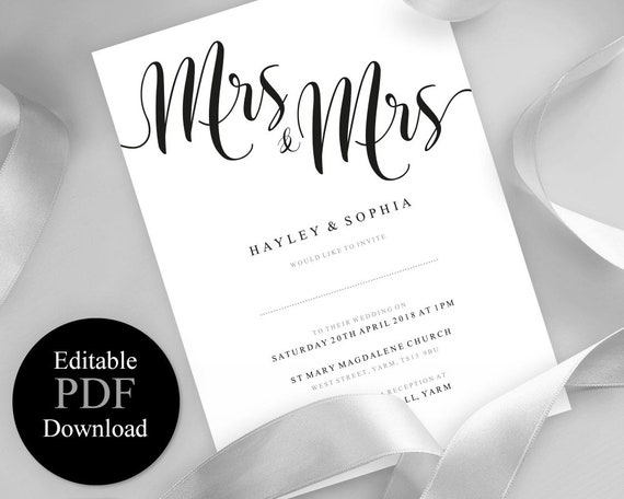 Pride Mrs /& Mrs Wedding Card