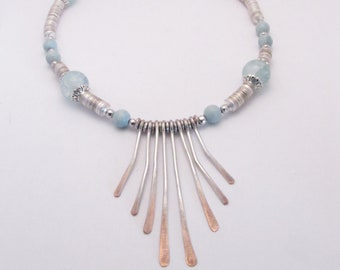 silver paddle necklace
