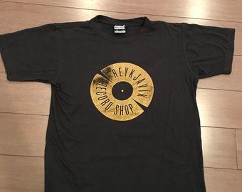 Vintage Reykjavik Record Shop T Shirt