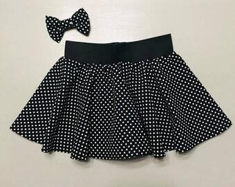 Girls Skirt and Bow Set